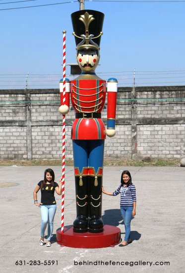Toy Soldier Statue with Baton 16 Ft.