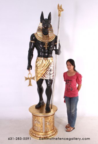 Anubis 6ft.Statue with Base