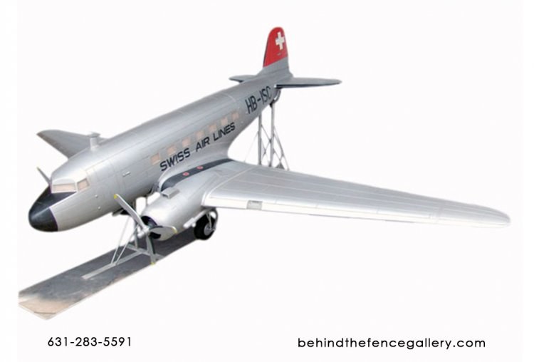 Model DC-3 Airplane Replica