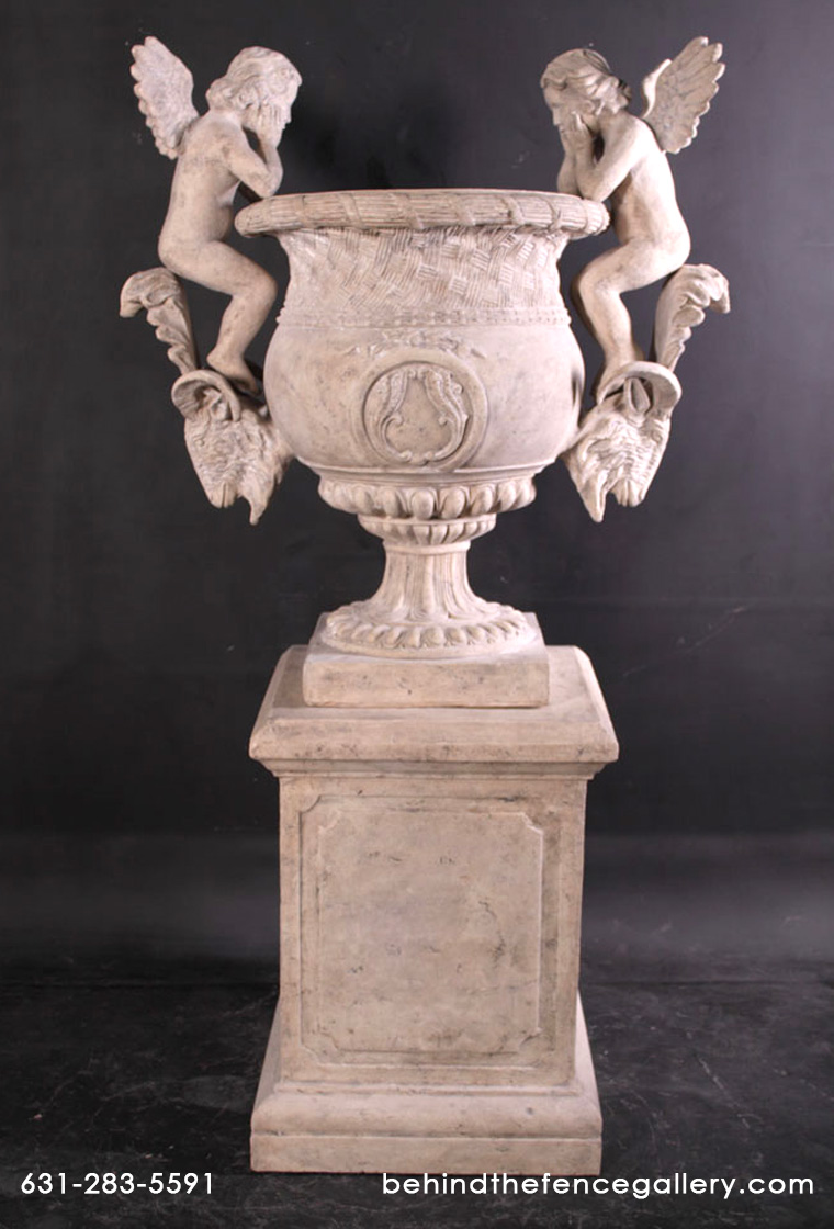 Angels Urn with Roman Stone Finish