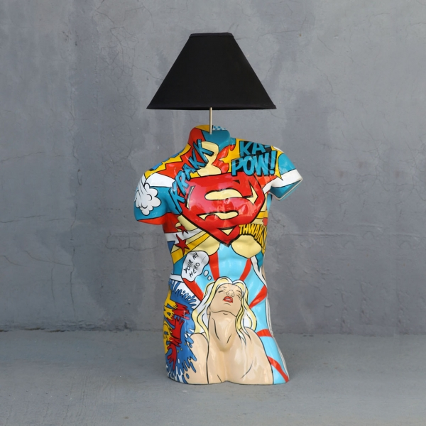 Popart Male Torso Lamp