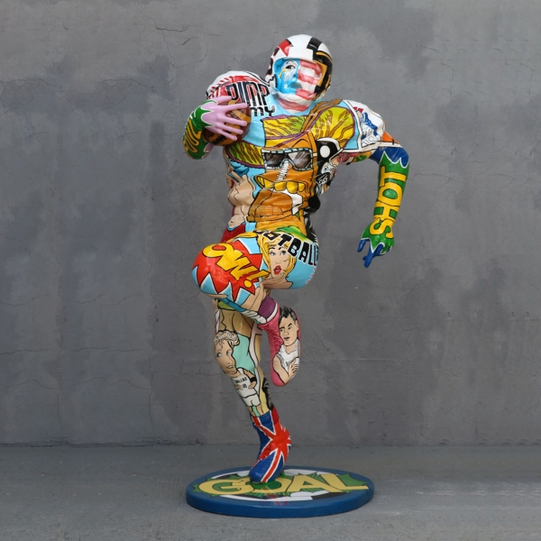 Popart Football Player
