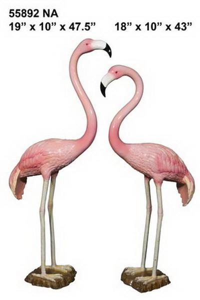 Bronze Flamingo Statue (pair)