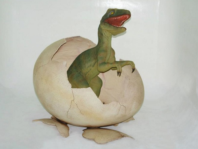 Dino Egg with Baby T-Rex