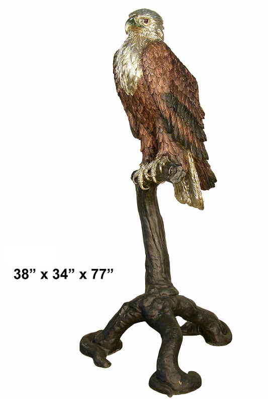 American Eagle Perched on a Branch