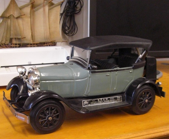 Antique Police Cars For Sale >> Jim Beam Car Decanter 1929 Ford Model Antique Tin Old Car [TIN4] - $149.99 : Life Size Statues ...