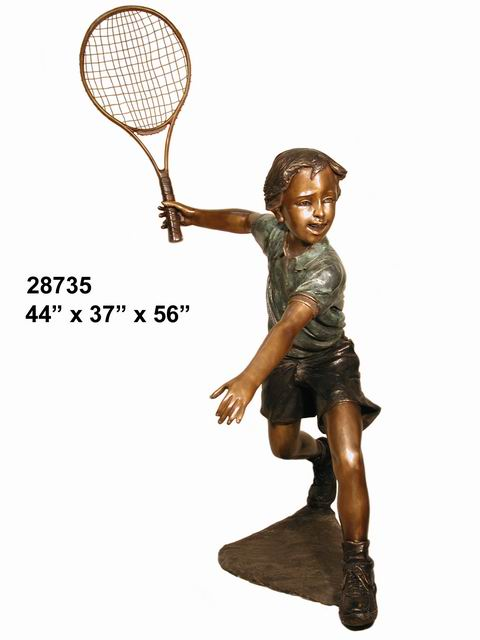 Bronze Tennis Player