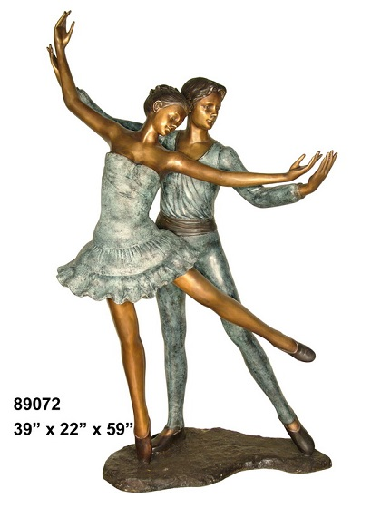 Bronze Pair of Young Dancers