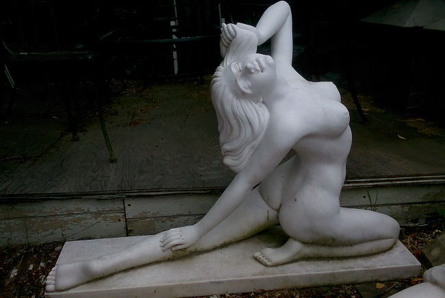 Marble Nude statue of Girl