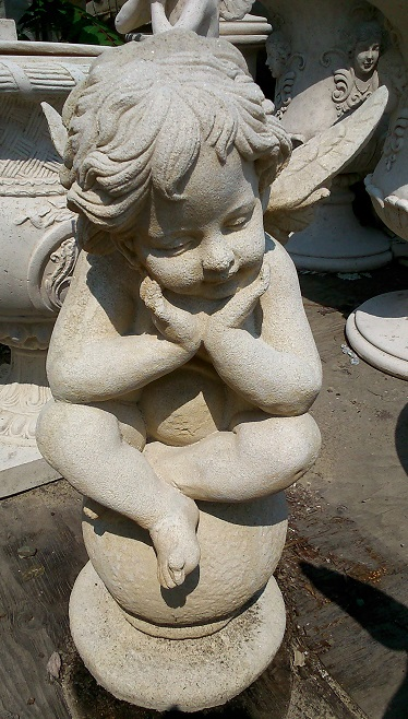"Cherub ""Thinking"" Statue 3ft."
