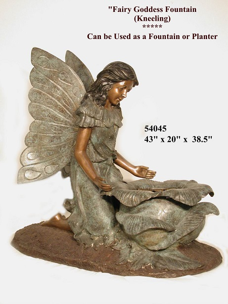 Bronze Fairy Goddess Fountain ( kneeling )