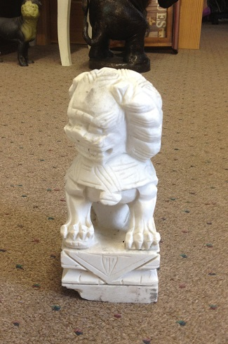 Marble Chinese Foo Dog 12'