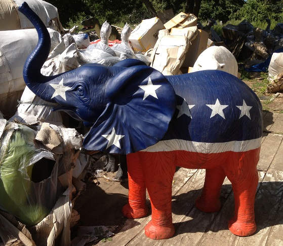 GOP Republican Elephant Statue