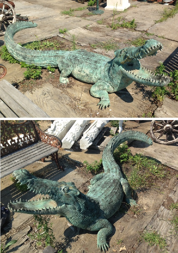 bronze giant alligator statue alligator statue csa1 2 life size statues. Black Bedroom Furniture Sets. Home Design Ideas