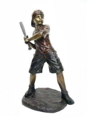 Bronze Baseball Batter Boy