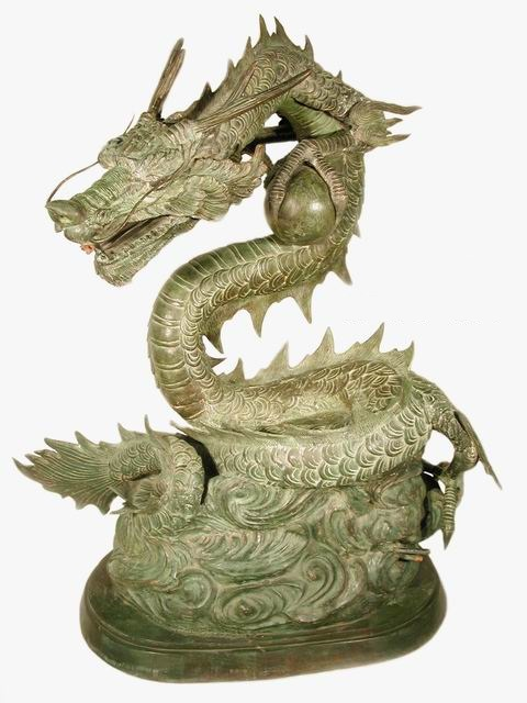 Chinese Dragon Holding Ball Fountain