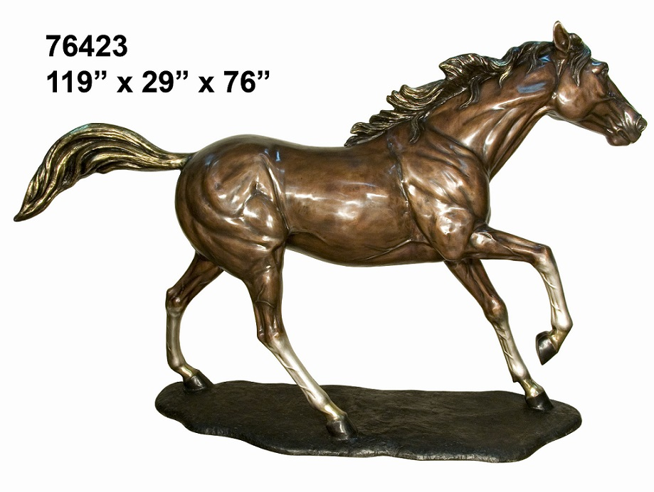 Bronze Cantering Horse