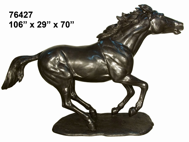 "Bronze Galloping Horse 70"" - Click Image to Close"