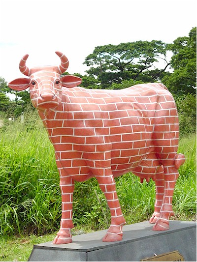 """ The Brick Wall "" Cow"