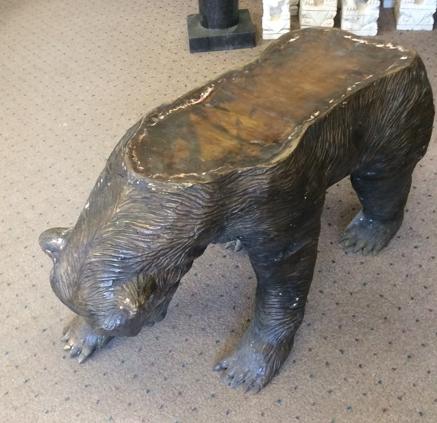 Bronze Bear Bench