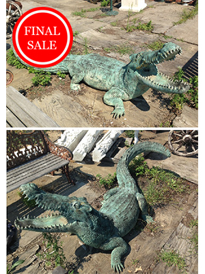 Bronze Giant Alligator Statue