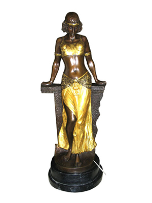 Bronze Belly Dancer with Marble Base