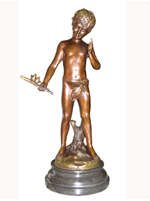 Bronze Boy with Bird