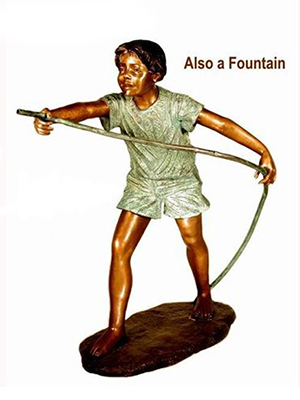 Bronze Boy with a Hose Fountain
