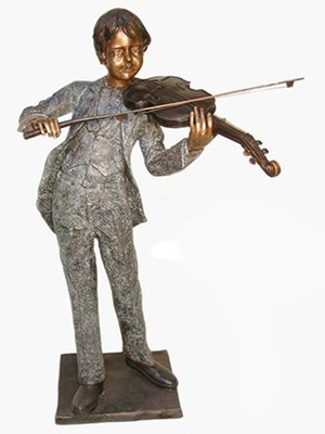 Bronze Boy with Violin
