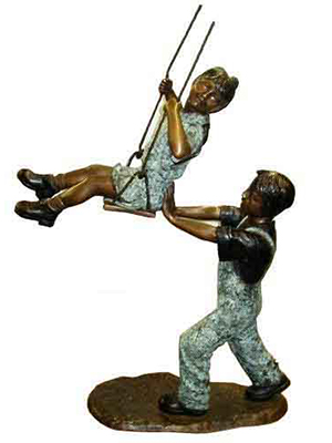 Bronze Children on the Swing