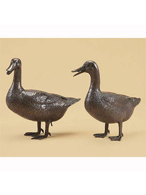 Bronze Duck Pair