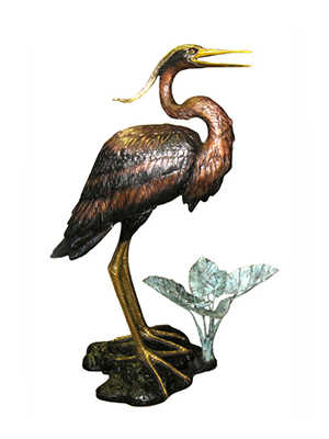 Bronze Heron on Base