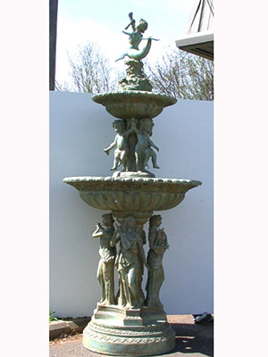 Bronze 4 Ladies Musical Fountain