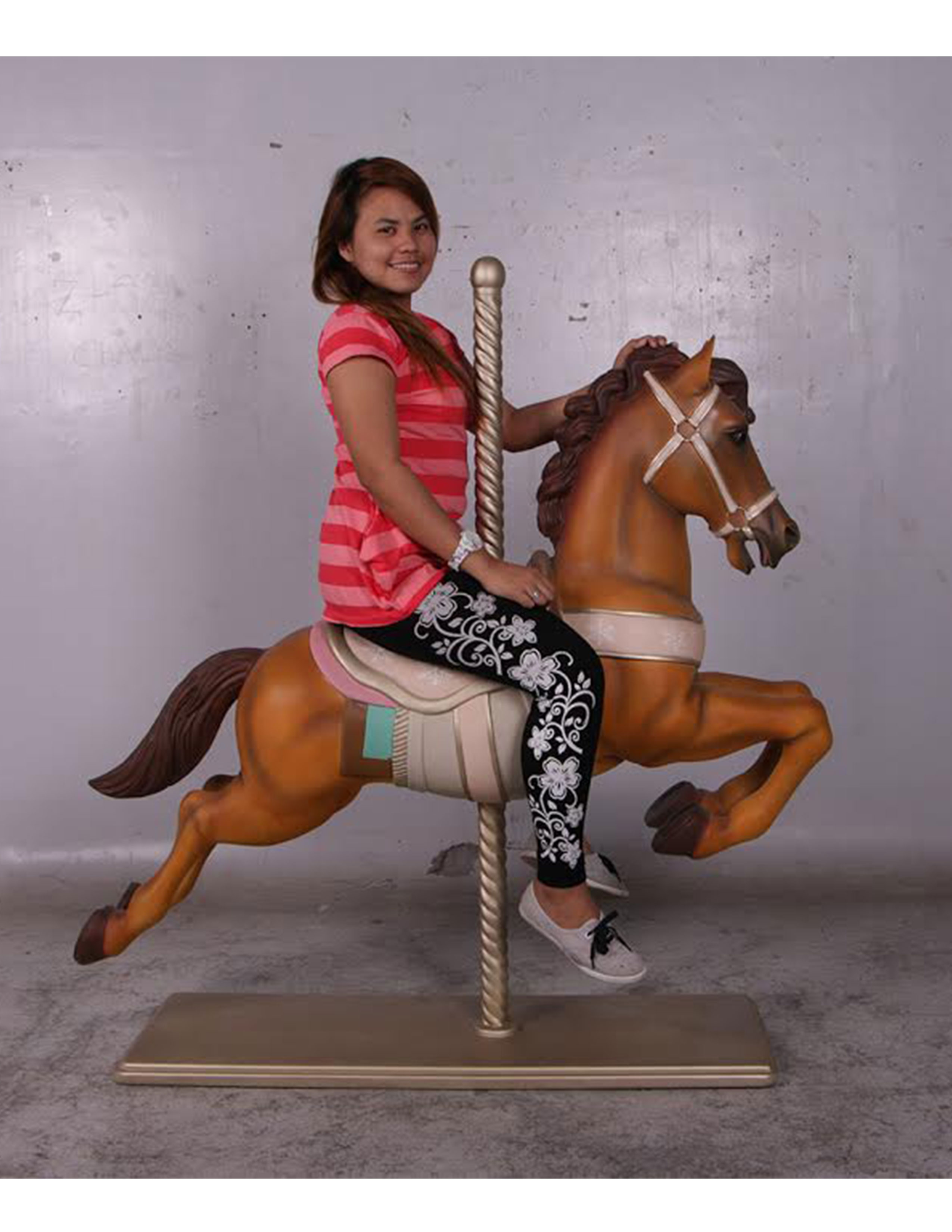 Brown Carousel Horse