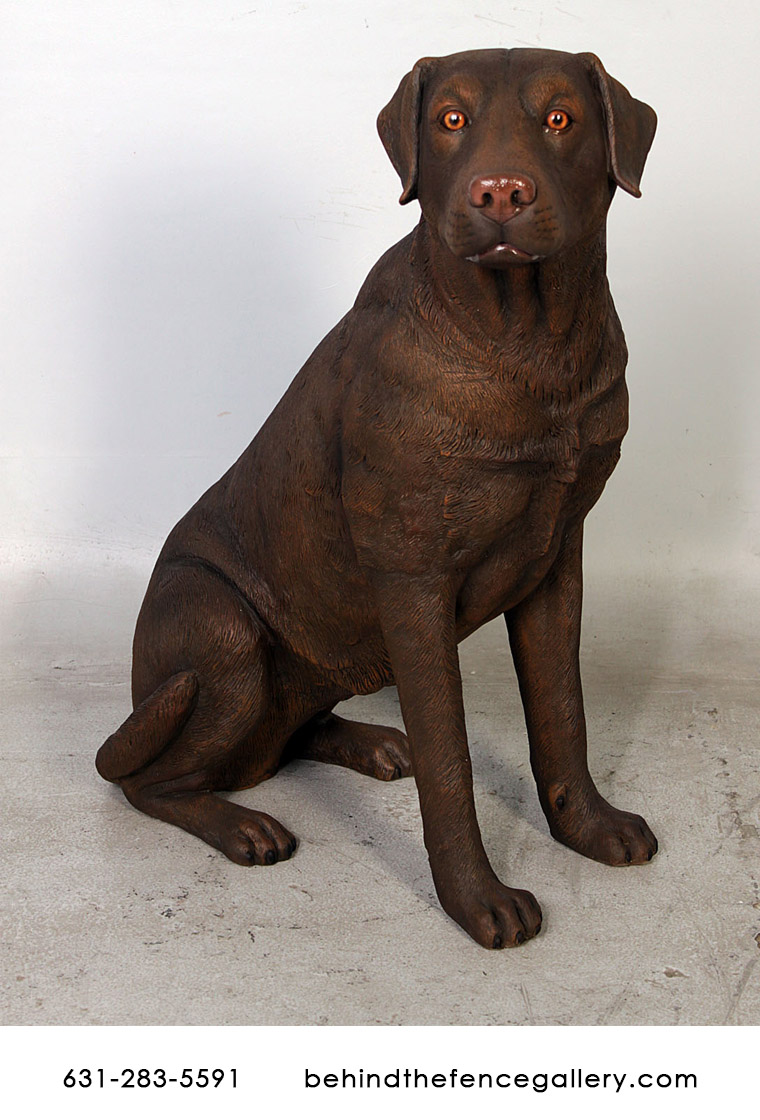 Sitting Labrador (Brown)