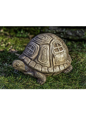 Cast Stone Traveling Turtle