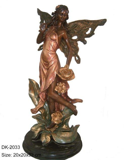 Butterfly Lady with Marble Base