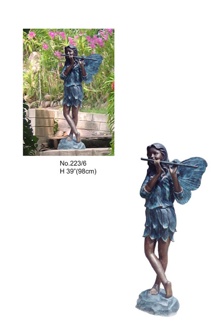 "Fairy Playing Flute 39""H"