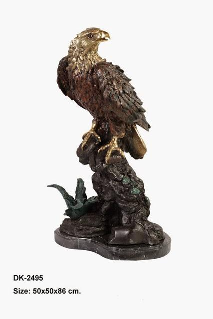 Eagle Standing on Rock 34""