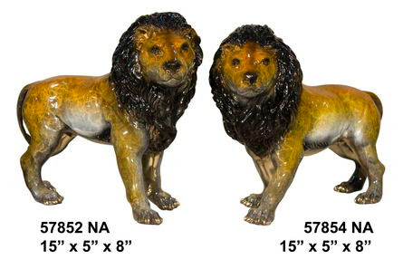 Bronze Lion Pair (Left and Right)