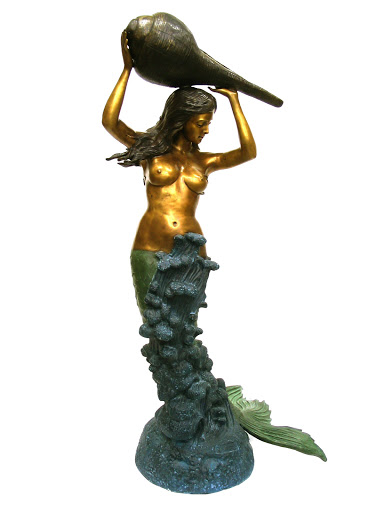 Mermaid with Shell Fountain