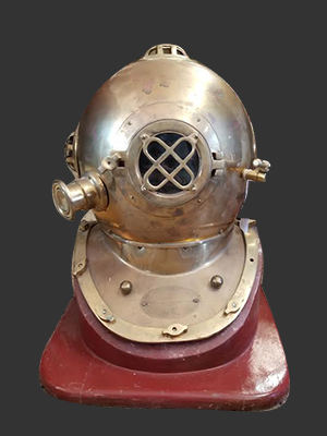 Brass U.S. Navy Diving Helmet