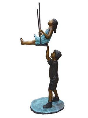 Boy & Girl on Swing