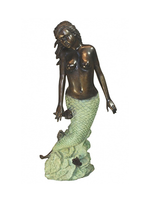Bronze Mermaid Fountain / Base (optional)