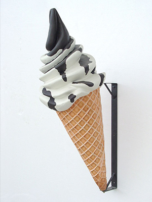 Chocolate Sundae on Cone Wall Display