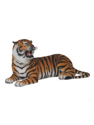 Tiger Laying With Open Mouth