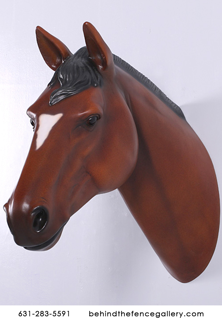 Chestnut Horse Head