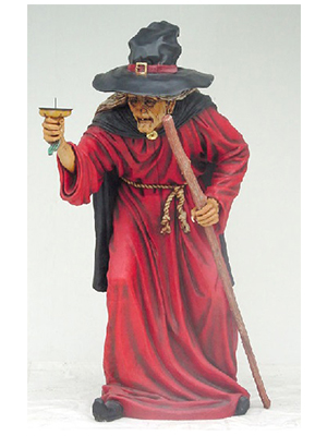 6' Halloween Witch Holding Candle