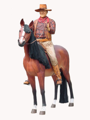 John Wayne on the Horse