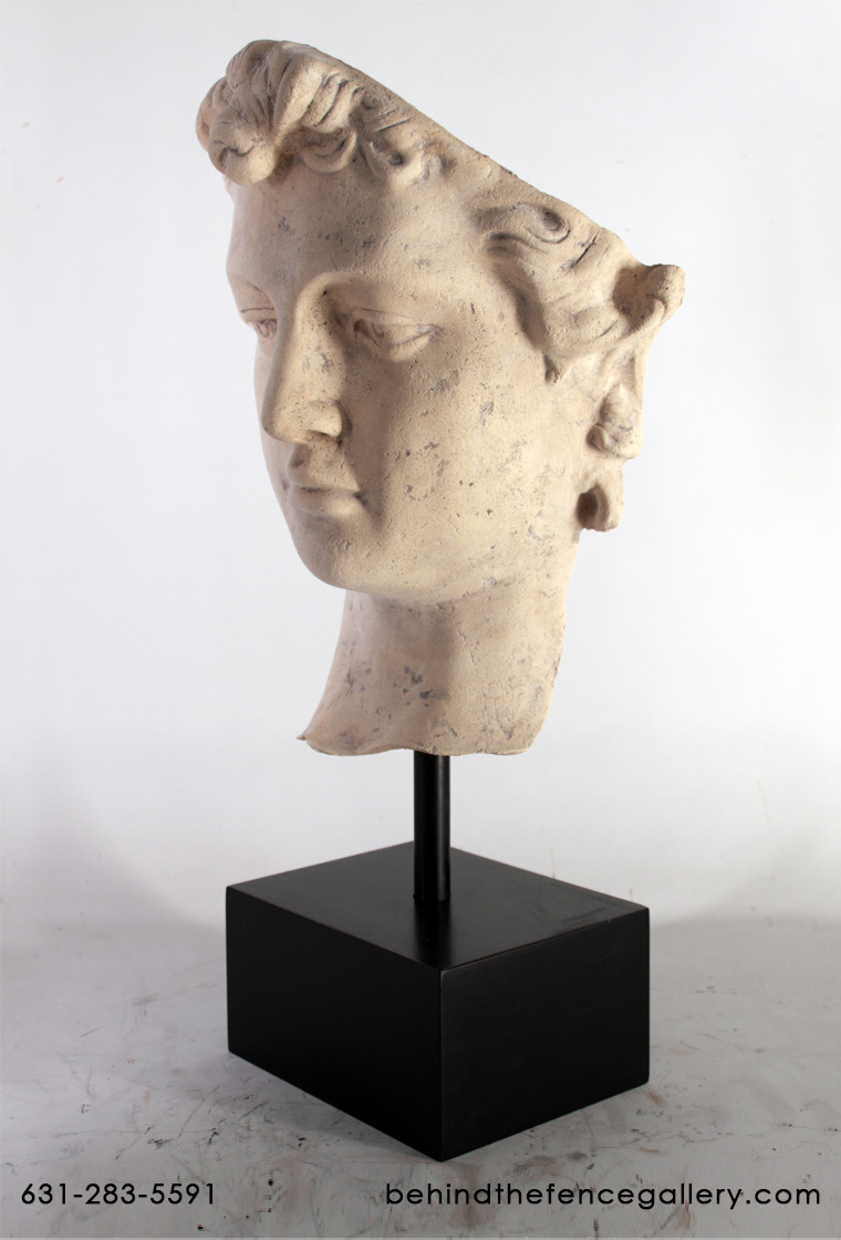 David Head on Base Roman Stone Finish / Fiberglass